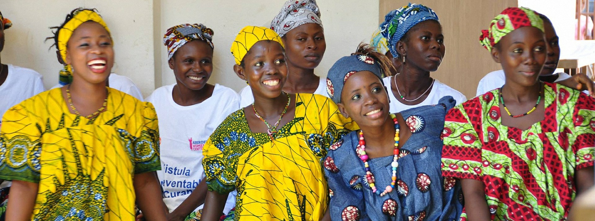 We provide underwear to women & girls in Africa suffering from obstetric fistula