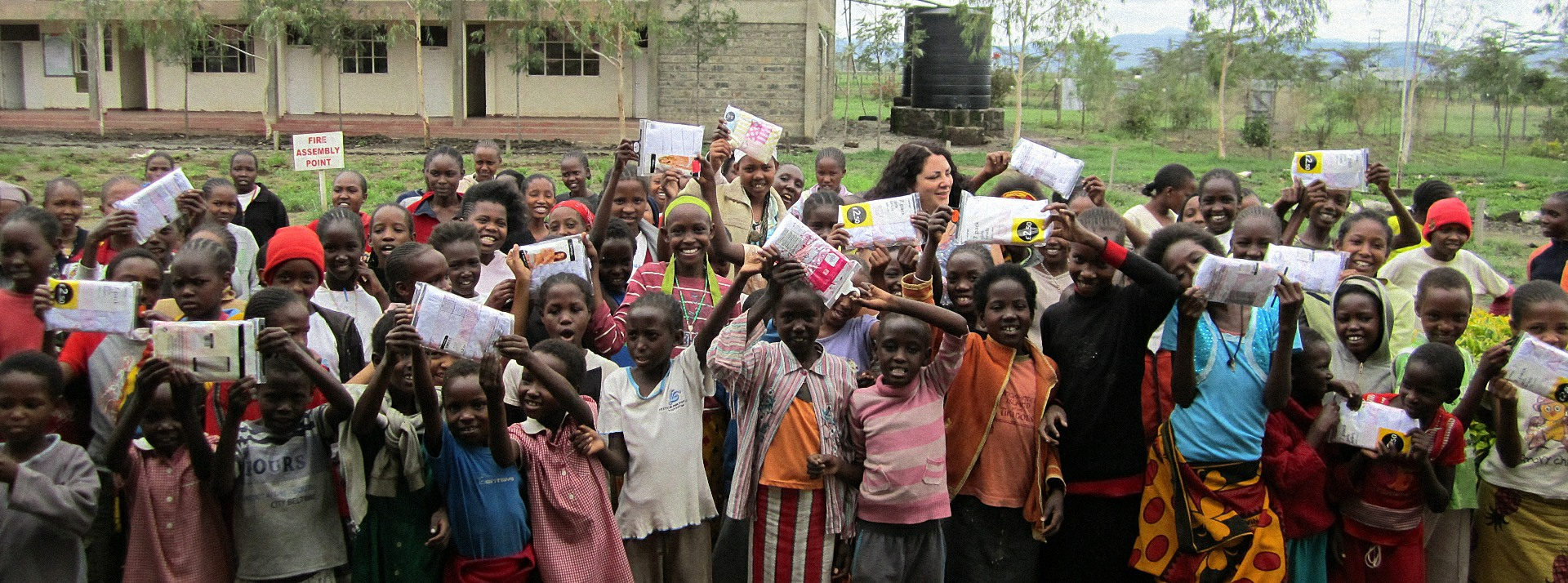 We collect underwear to give to people in need in Africa and the UK